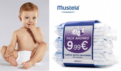 MUSTELA TOALLITAS OFERTA 3 PACKS 210U