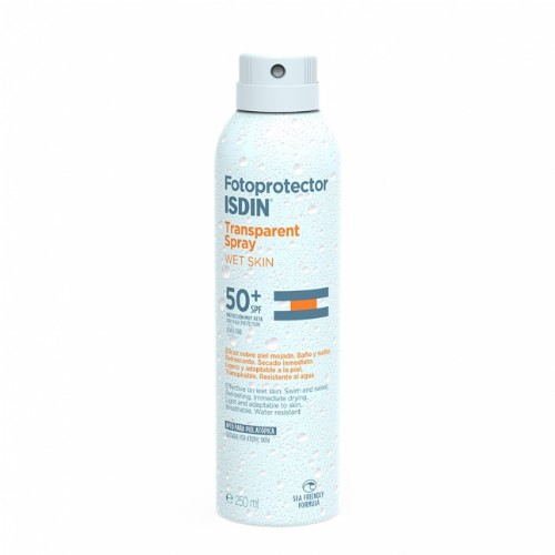 FOTOPROTECTOR ISDIN SPF-50+ SPRAY TRANSPARENTE - WET SKIN (200 ML)