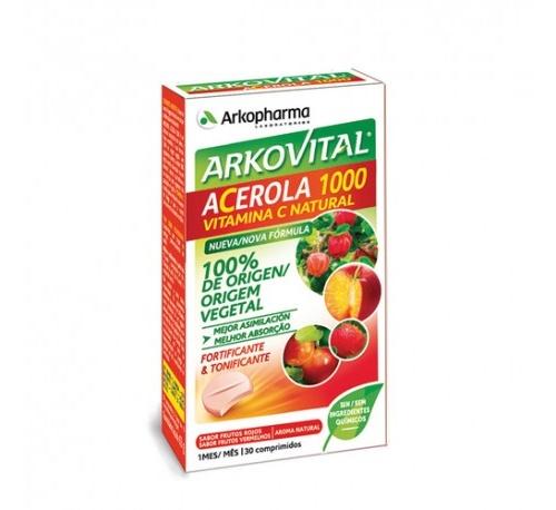 Arkovital acerola 1000 vitamina c (30 comprimidos)