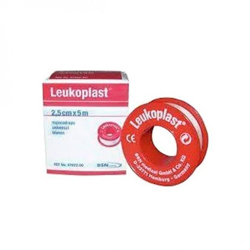 Esparadrapo - leukoplast (carne 5 x 2.5 cm 12 u)
