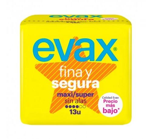Compresas higienicas femeninas - evax fina y segura (maxi 13 compresas)