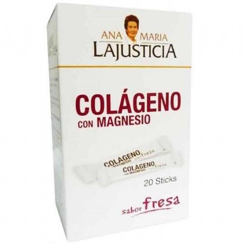 Colageno con magnesio sticks - ana maria lajusticia (fresa 20 sticks)