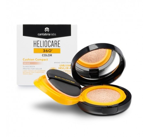 Heliocare 360º color cushion compact spf 50+ - protector solar (beige 15 g)