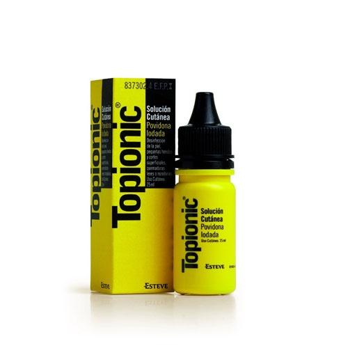 TOPIONIC SOLUCION CUTANEA, 1 frasco de 25 ml