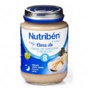 NUTRIBEN CENA CREMA VERDURA CON MERLUZA (POTITO JUNIOR 200 G)