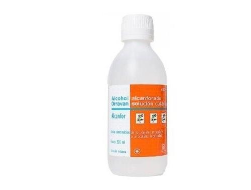 ALCOHOL ALCANFORADO ORRAVAN SOLUCION CUTANEA , 1 frasco de 500 ml