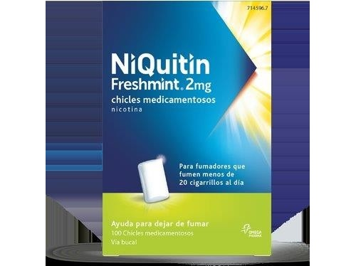 NIQUITIN MINT 2 MG CHICLES MEDICAMENTOSOS 100 chicles (blister AL/PVC/PVDC )