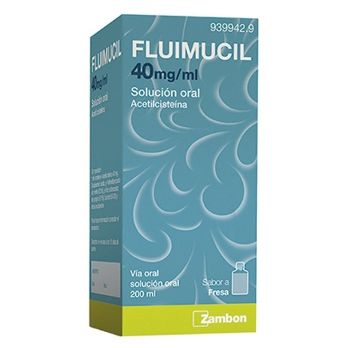 FLUIMUCIL 40mg/ml SOLUCION ORAL , 1 frasco de 200 ml