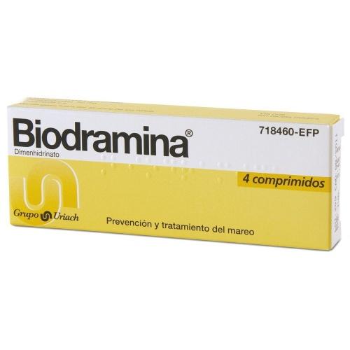 BIODRAMINA 50 mg COMPRIMIDOS , 4 comprimidos
