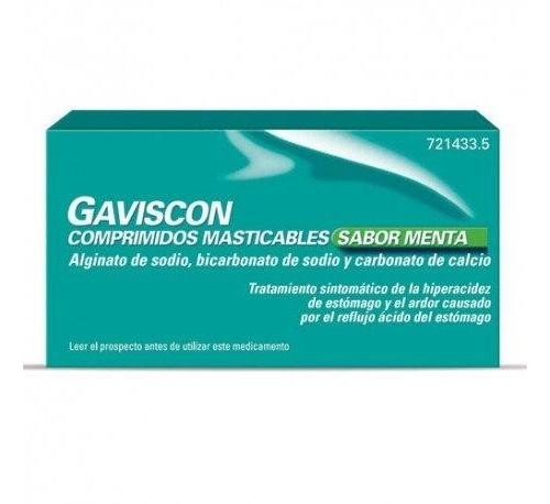 GAVISCON COMPRIMIDOS MASTICABLES SABOR MENTA,24 comprimidos