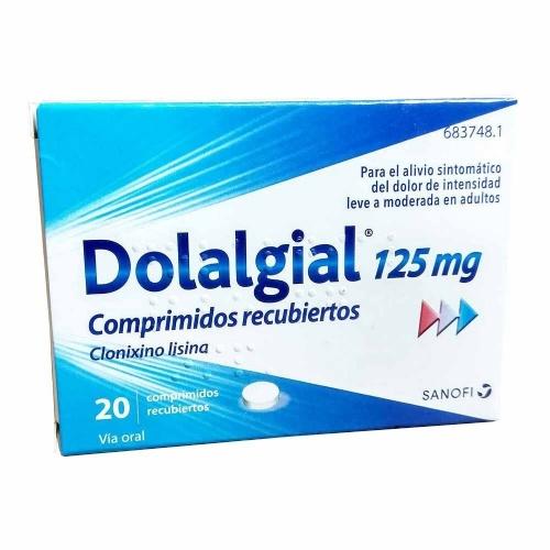 DOLALGIAL 125 mg COMPRIMIDOS RECUBIERTOS , 20 comprimidos