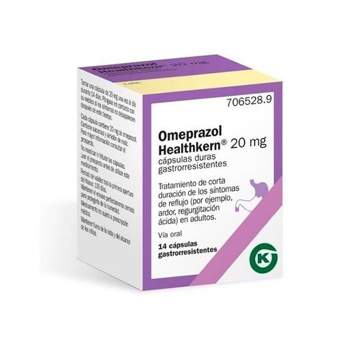 OMEPRAZOL HEALTHKERN 20 mg CÁPSULAS DURAS GASTRORRESISTENTES , 14 cápsulas (Frasco)