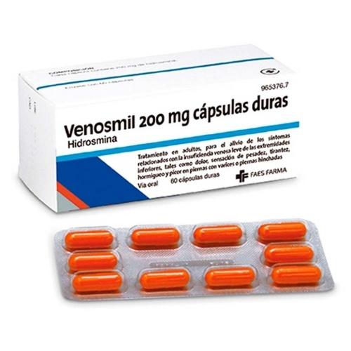 VENOSMIL 200 mg CAPSULAS , 60 cápsulas