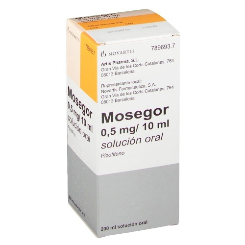 MOSEGOR 0,5 mg/10 ml SOLUCION ORAL, 1 frasco de 200 ml