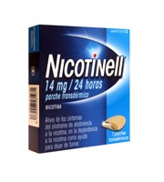 NICOTINELL 14 MG/24 HORAS PARCHE TRANSDERMICO , 7 parches