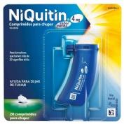 NIQUITIN 4 mg COMPRIMIDOS PARA CHUPAR SABOR MENTA, 20 comprimidos