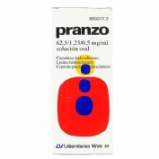 PRANZO 62,5 / 1,25 / 0,5 mg/ml SOLUCION ORAL, 1 frasco de 200 ml
