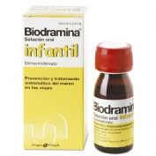 BIODRAMINA  INFANTIL 4 mg/ml SOLUCION ORAL , 1 frasco de 60 ml